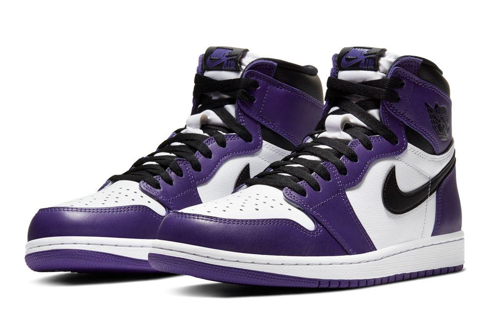 Air Jordan 1 Court Purple quarter shot