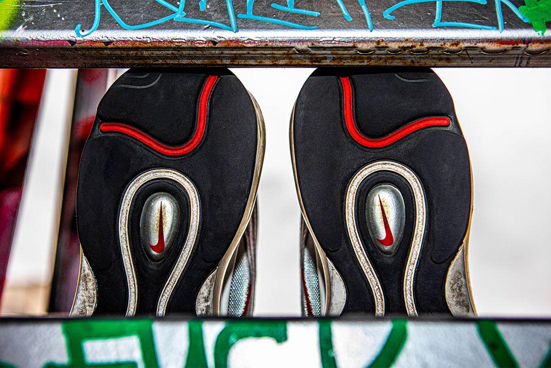 Nike Air Max 97 Silver Bullet Graffiti Heel 2