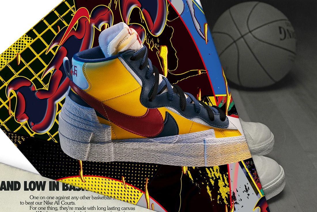 Nike Sacai Blazer Header Wh