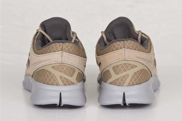 Nike Free Run 2 Khaki Flat Silver 1