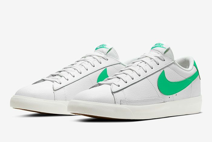 Nike Blazer Low Green Spark Ci6377 105 Front Angle