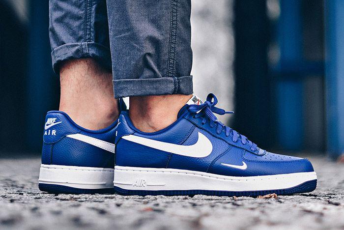 Nike Air Force 1 Mini Swoosh Deep Royal Blue 1
