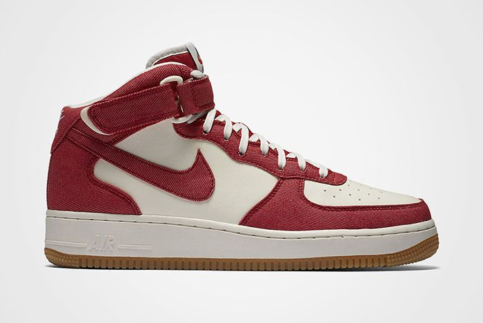 Nike Air Force 1 Red Denim Feature