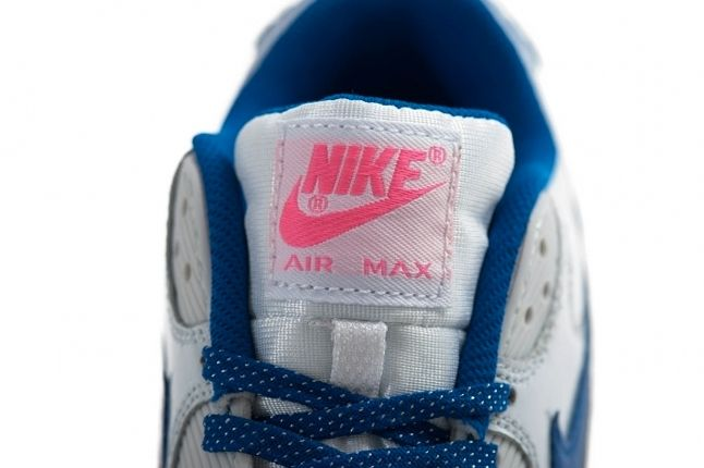 Nike Air Max 90 Gs 2007 Hyperblue Digipink Tongue Detail 1