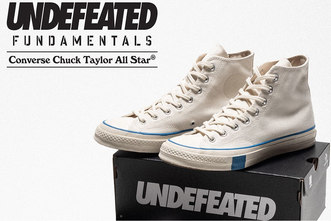 """Undefeated x Converse Chuck 70 """"FUNDAMENTALS"""" on white"""