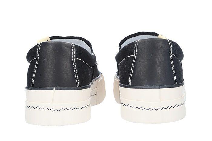 Visvim Skagway Slip On Black Heel