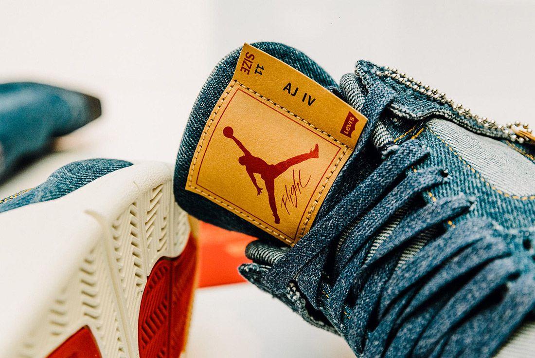 Levis Air Jordan 4 Denim 7