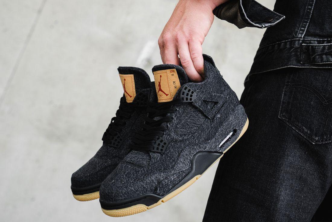 Levis Jordan 4 On Foot 5