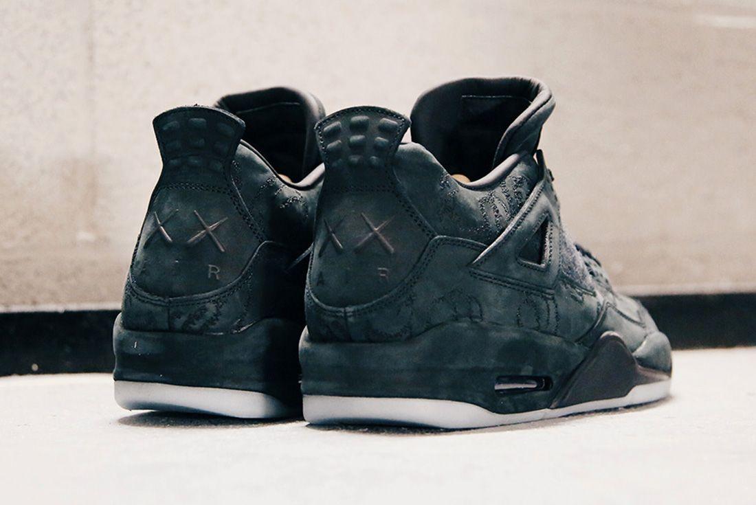 Air Jordan 4 Kaws Black Detail Sneaker Freaker 3