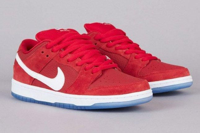 Nike Sb Dunk Low Challenge Red White University Blue Quater Front 1