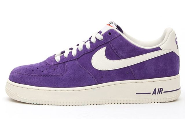 Nike Air Force 1 Low Suede Purple Profile 1