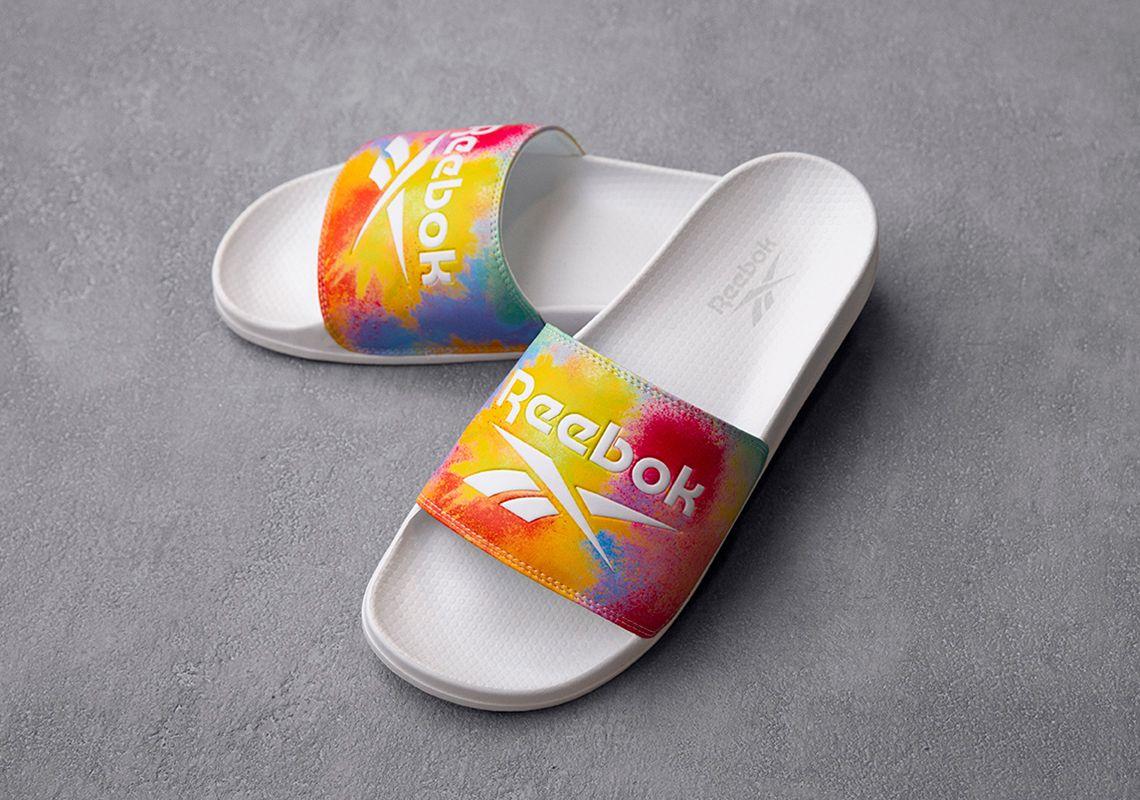 Reebok Pride Slides Angled