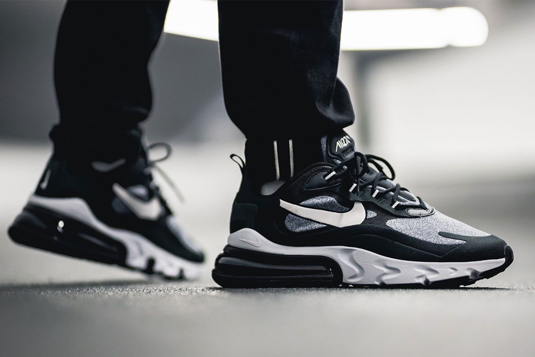 Nike Air Max 270 React Black White Ao4971 001 Mood 1