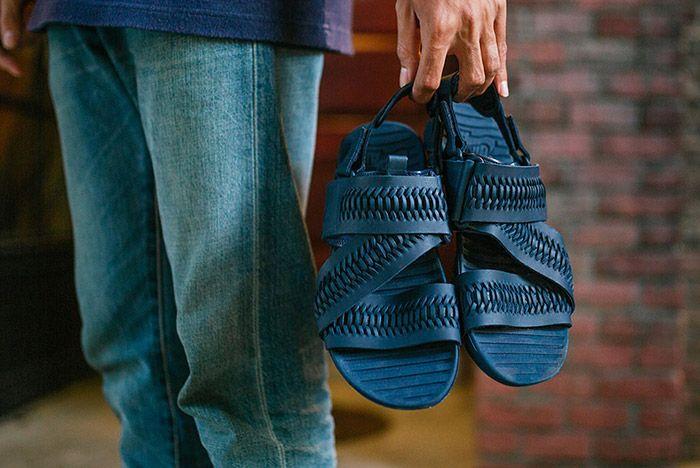 Nike Solarsoft Zigzag Woven Sandal Navy Blue 1