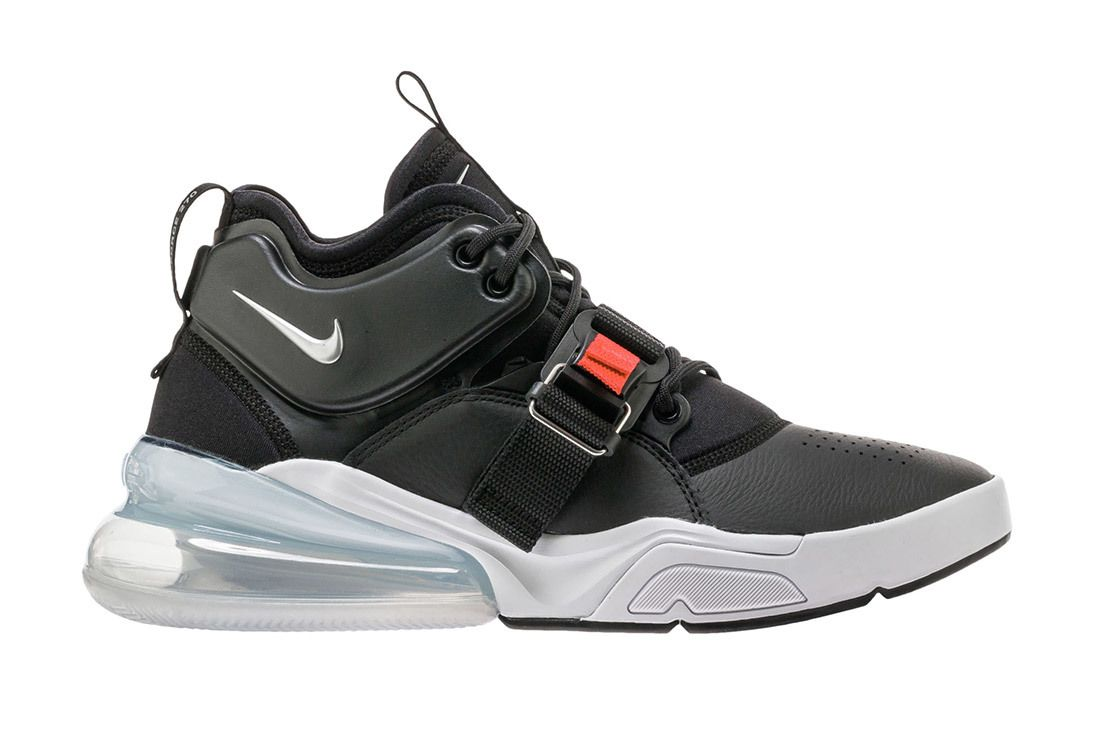 Nike Air Force 270 Black Metallic Silver White 1
