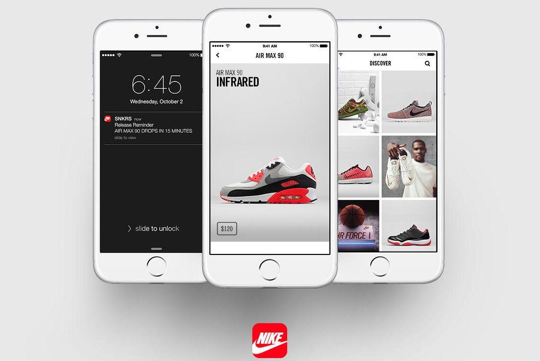 Snkrs App Screens Main