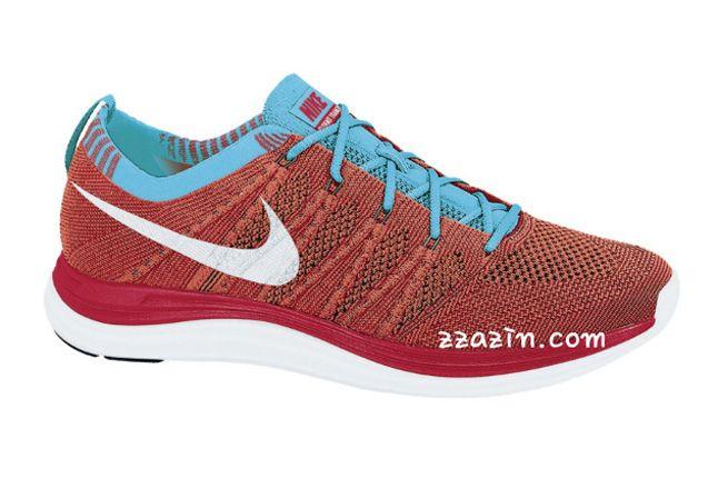 Nike Wmns Flyknit Lunar1 Blue Red 1