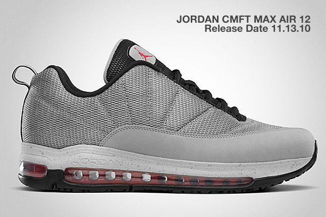 Jordan Cmft Max Air 12 Silver Black 1