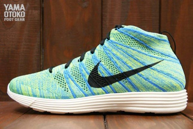 Nike Lunar Flyknit Chukka Blue Glow 1