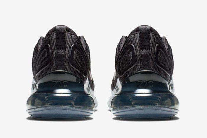 Nike Air Max 720 Triple Black Release Date Heel