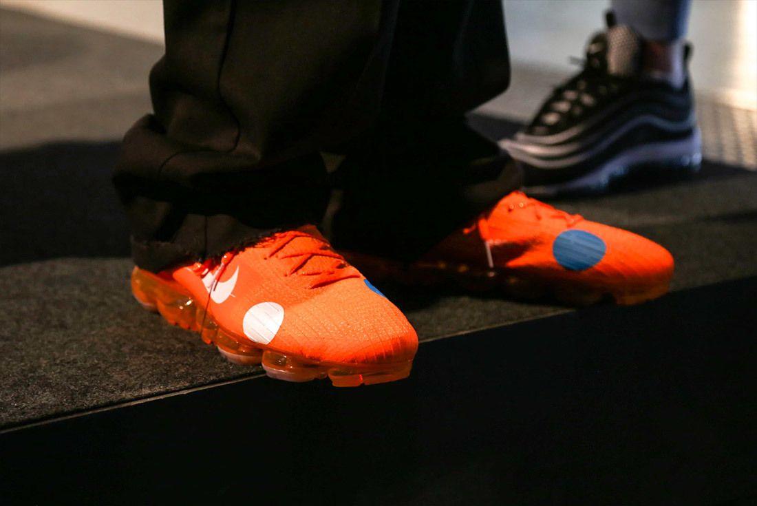 Off White Nike Vapormax Mercurial Orange 3