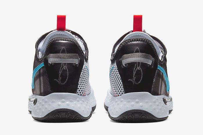 Nike Pg 4 Plaid Cd5079 002 Heel