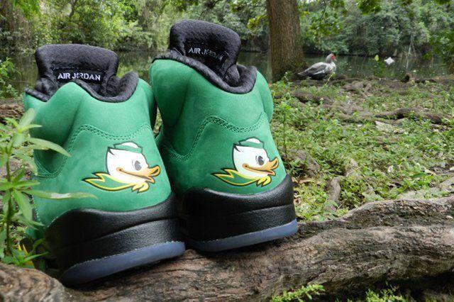 Air Jordan 5 Oregon Ducks Heel