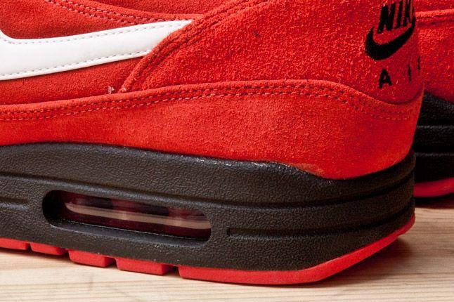 Nike Air Max 1 Prm Red Blk Heel Detail 1