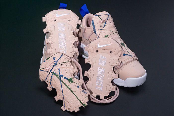 Nike Air More Money Snake Green Splatter 1