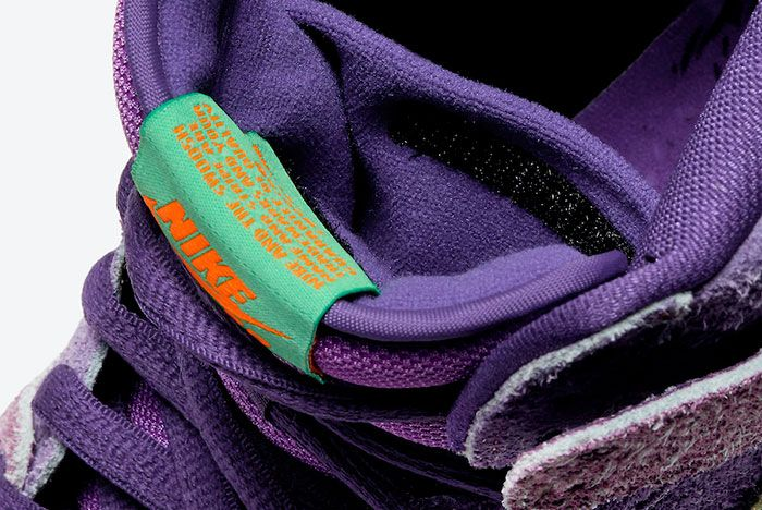 Nike SB Dunk High 4/20 'Reverse Skunk' Tongue Pouch