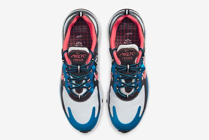 Nike Air Max 270 Reacts Script Swoosh Above Shot