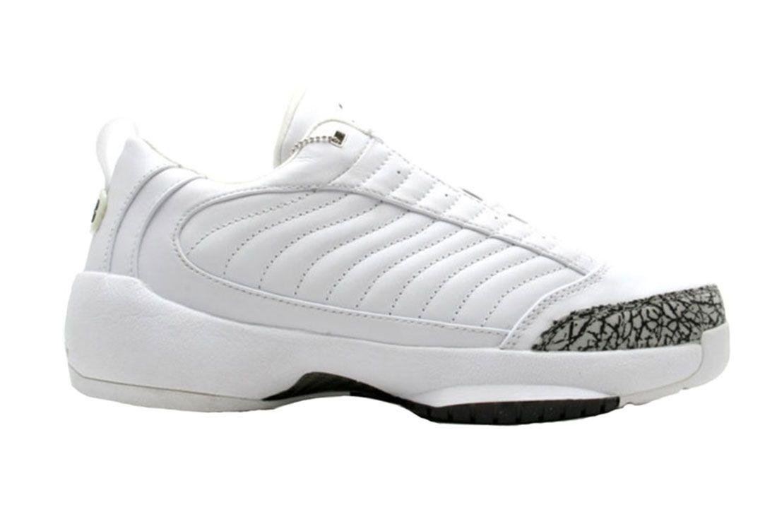 Air Jordan 19 Og Low White Cement Grey Lateral Side Shot