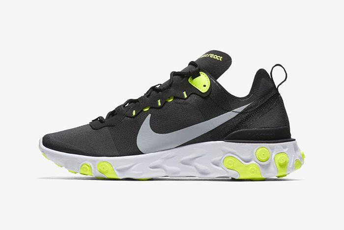Nike React Element 55 Volt White Aurora Solar Red 1