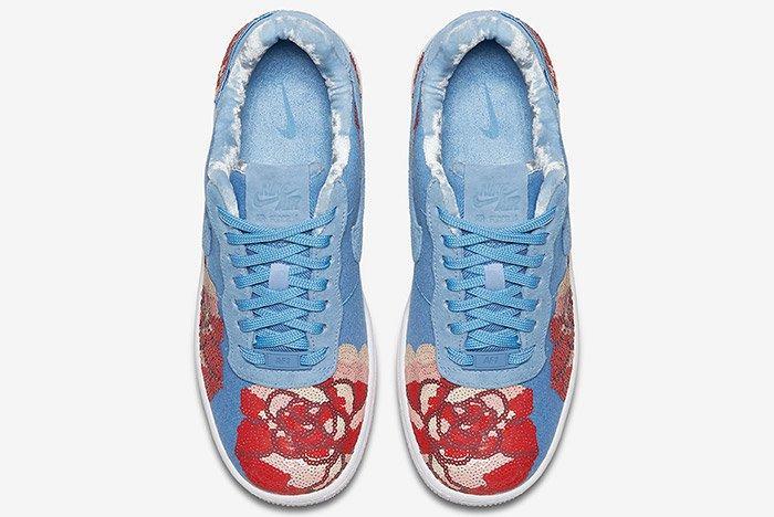 Nike Air Force 1 Denim Floral Seqine 3