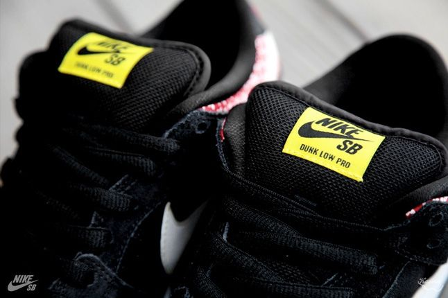 Nikesb Dunk Low Firecracker Pack Black Tongue Detail 1