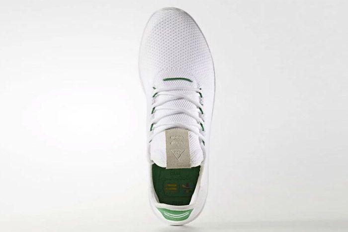 Pharrell Williams Adidas Tennis Hu White Green 5