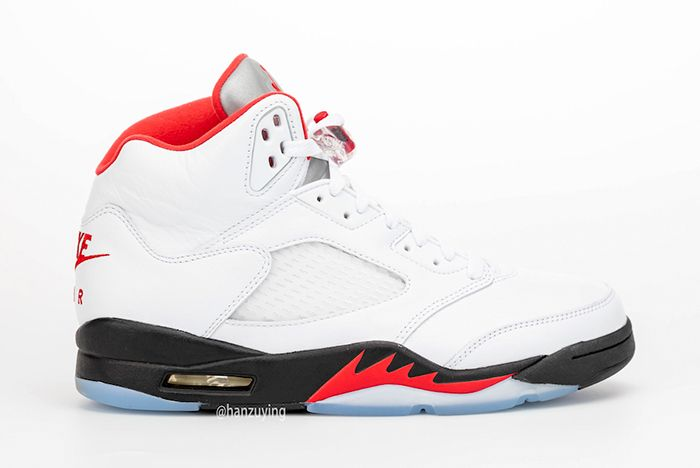 Air Jordan 5 Fire Red Right Side Shot
