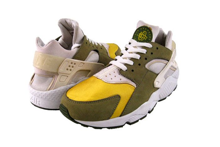 Stussy Nike Huarache Le Front Yellow Full