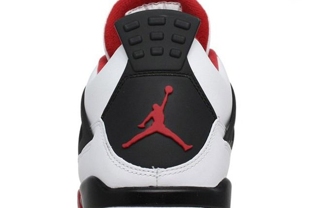 Air Jordan 4 Fire Red Heel 1