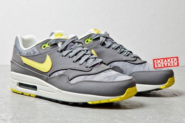 Nike Air Max 1 Prm Cool Grey Sonic Yellow Jaquard 2