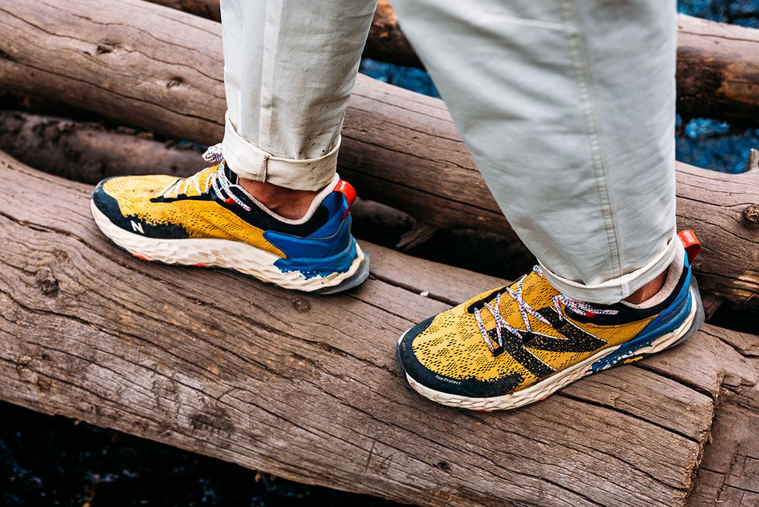 New Balance Hierro V5 Yellow On Foot