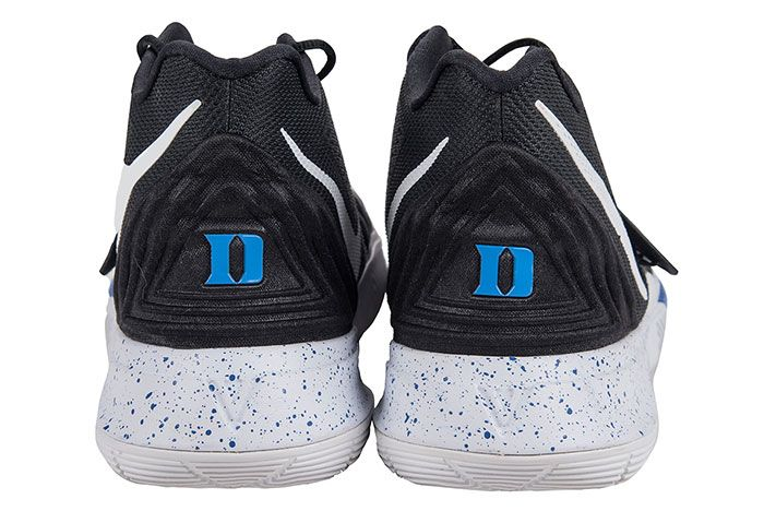 Game Worn Zion Williamson Kyrie 5 Blue Devils Heel