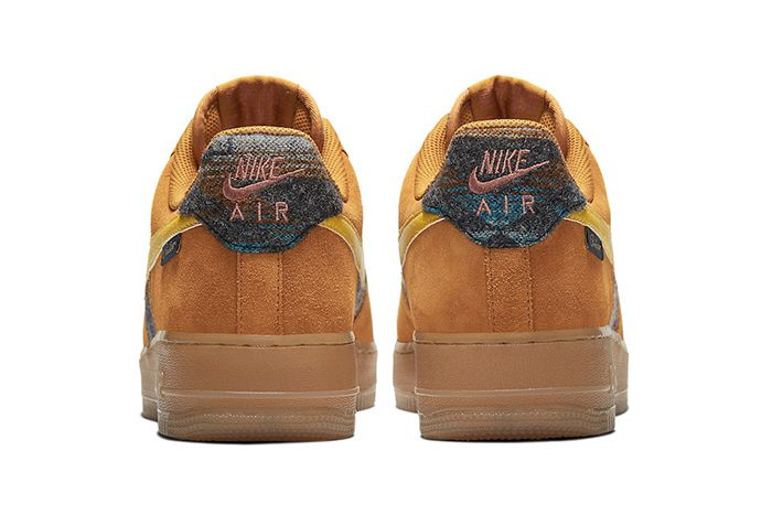 Pendleton Nike Air Force 1 Low N7 Cq7308 700 Release Date Heel