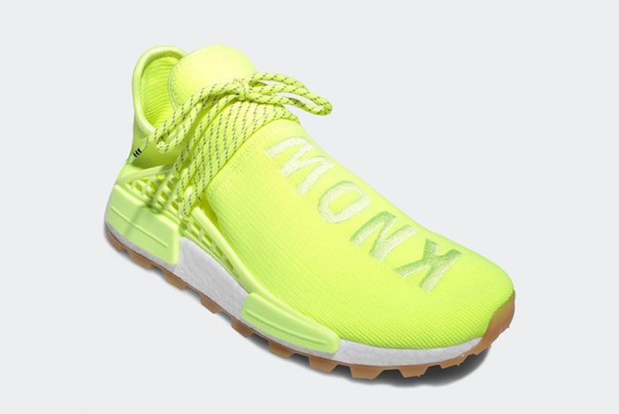 Pharell Adidas Hu Nmd Solar Yellow Angle Outside