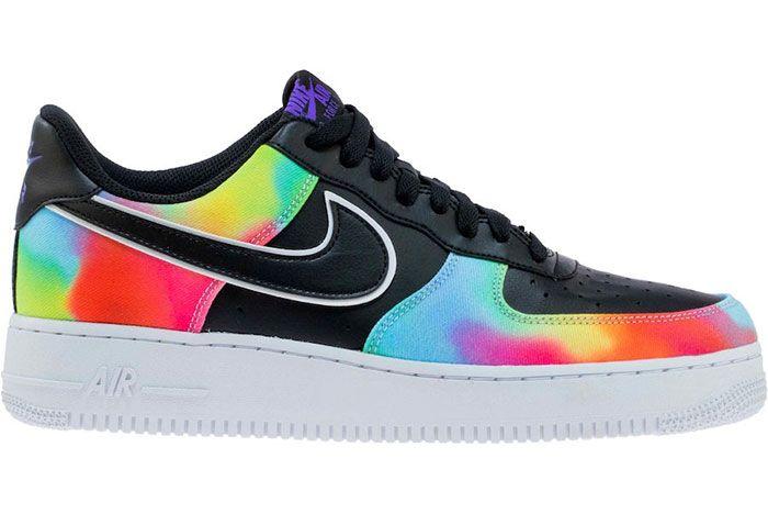 Nike Air Force 1 Low Black Tie Dye Ck0840 001 Release Date 3 Side