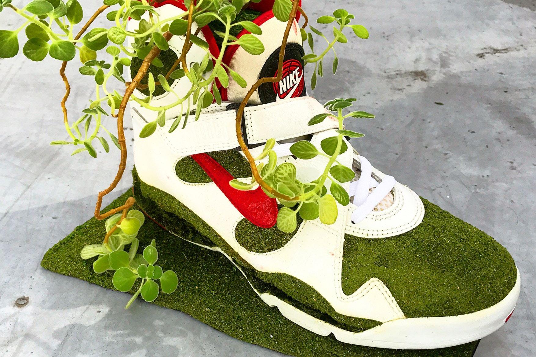Artist Shoetree Nike Sneakers Sculptural Houseplants 3