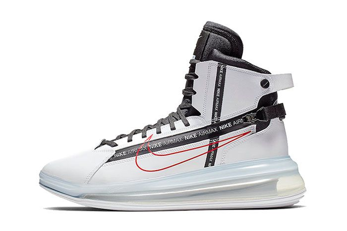 Nike Air Max 720 Saturn White Black University Red Left