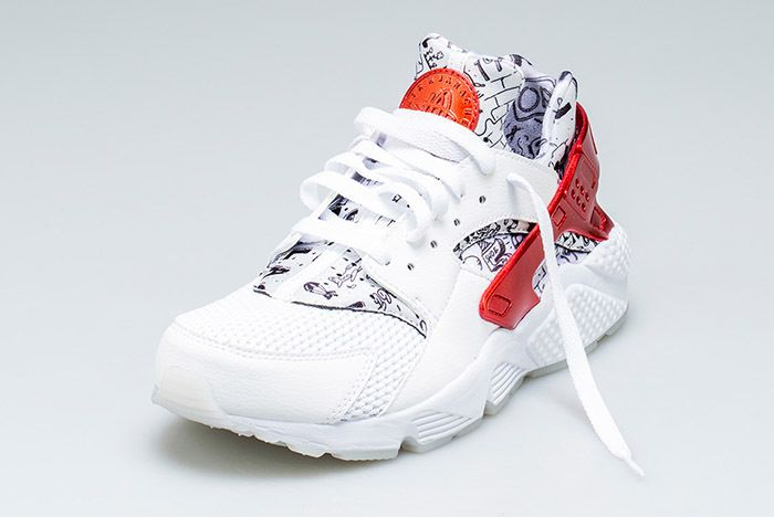 Nike Air Huarache Qs White Red Shoe Palace 7 Sneaker Freaker