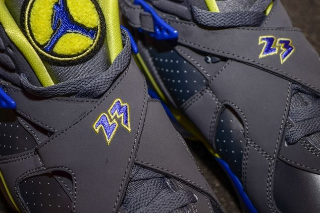 Air Jordan 8 Gs Laney Midfoot Detail 1