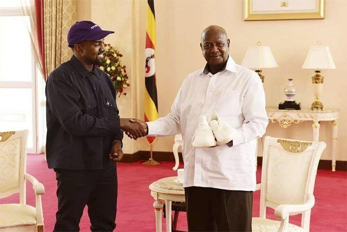 Kanye Gifts Urugayan President Yeezys 1